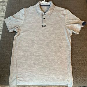 Oakley blue golf shirt